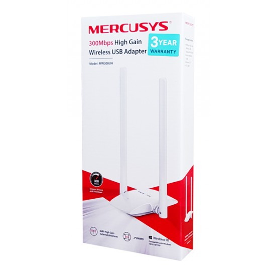 MERCUSYS Wireless USB Adapter MW300UH 300Mbps 2x2 MIMO